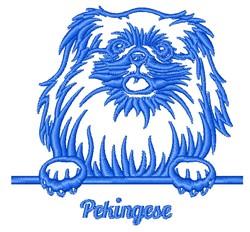 Pekingese Outline embroidery design
