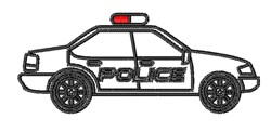 Police Car Outline embroidery design