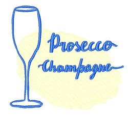 Prosecco Champagne Outline embroidery design