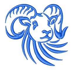 Ram Outline embroidery design