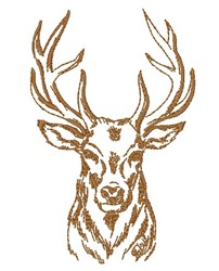 Realistic Buck Outline embroidery design
