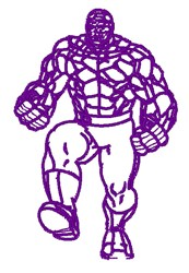 The Thing Outline embroidery design