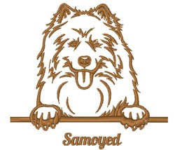 Samoyed Outline embroidery design