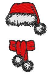 Santas Hat & Scarf embroidery design