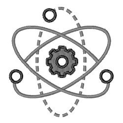 Atom embroidery design