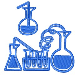 Science Experiment Outline embroidery design
