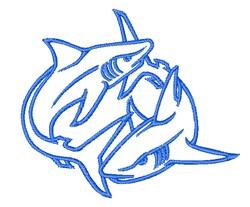 Shark Outline embroidery design
