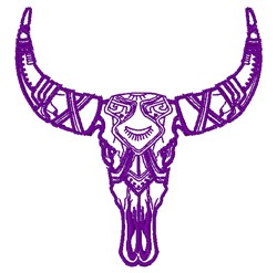Tribal Skull embroidery design