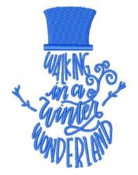 In A Winter Wonderland embroidery design