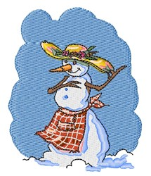 Country Snow Woman embroidery design