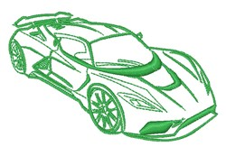 Luxury Race Car Outline embroidery design