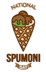 National Spumoni Day embroidery design