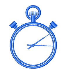 Stopwatch embroidery design