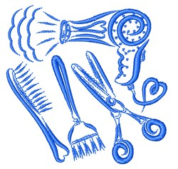 Beauty Equipment embroidery design