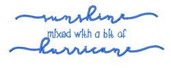 Sunshine Hurricane embroidery design