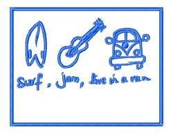 Surf Jam Van embroidery design