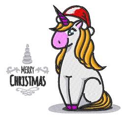 Christmas Unicorn embroidery design