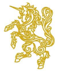 Swirl Unicorn embroidery design