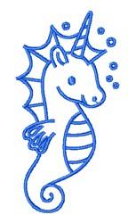 Unicorn Seahorse embroidery design