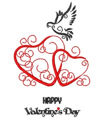 Happy Valentiens embroidery design