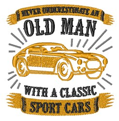 Old Men & Sports Cars embroidery design