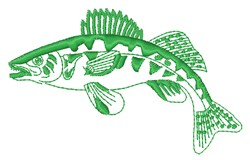Muskie Outline embroidery design