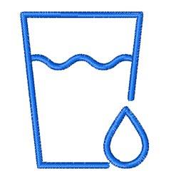 Glass Of Water embroidery design