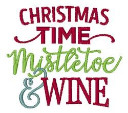 Mistletoe & Wine embroidery design