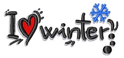 I Heart Winter embroidery design