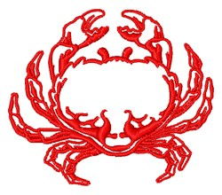 Crab Outline embroidery design