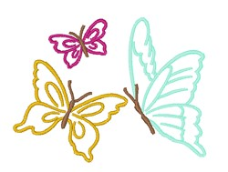 Butterflies Outline embroidery design