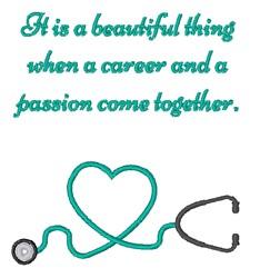 Nursing Love embroidery design