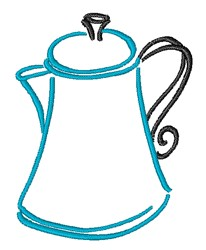 Coffee Pot embroidery design