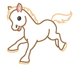 Pony Outline embroidery design