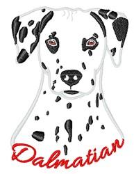 Dalmatian Head  embroidery design