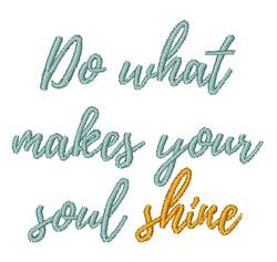 Make Soul Shine embroidery design