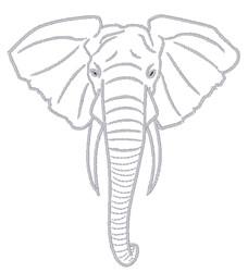Elephant Head embroidery design