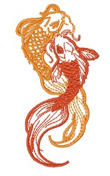 Koi Carp embroidery design