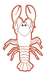 Lobster Outline embroidery design
