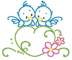 Love Bird Outline embroidery design