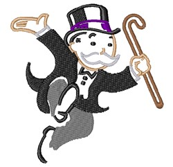 Monopoly Man embroidery design