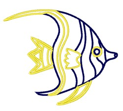 Angelfish Outline embroidery design