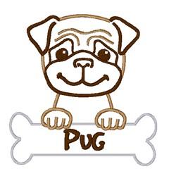 Pug Puppy   embroidery design