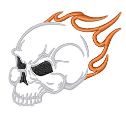 Flame Skull embroidery design