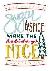 Make Holidays Nice embroidery design