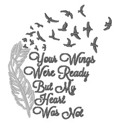 Wings Were Ready embroidery design
