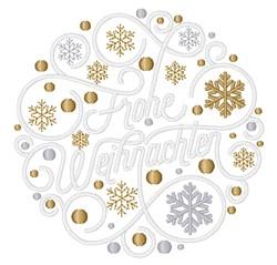 Frohe Weihnachten embroidery design