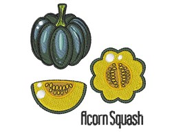 Acorn Squash embroidery design