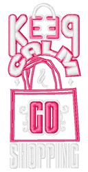 Go Shopping embroidery design