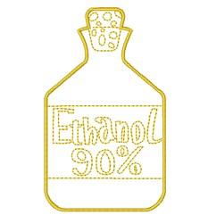 Ethanol 90% embroidery design